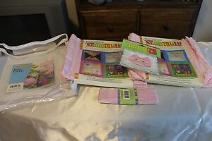 2002-Daisy-Kingdom-Connect-It-No-Sew-Craft-Squares-NOSIP-Pink-Baby-Caddy