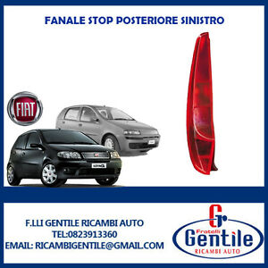 Fiat-PUNTO-II-dal-1999-FANALE-STOP-POSTERIORE-SINISTRO-SX-VERSIONE-5-PORTE
