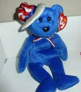 Sam Bear 4th of July - TY Beanie Baby Retired Rare Mint Condition Tags MWMT