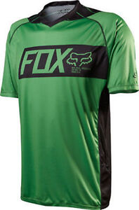 be446f92a Fox Head Attack Short Sleeve Mountain Bike Jersey Green Size Small ...