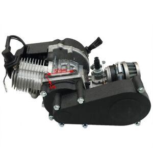 Details about 49cc 50cc 2 Stroke Engine for Pocket Bike mini Dirt pit bike  quad black
