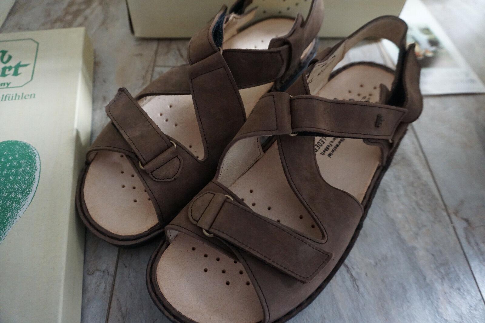 Finn Comfort Vegas Mens Summer zapatos Sandals Leather Talla 45 Nubuck marrón New