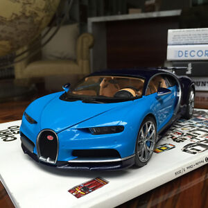 New-1-18-GTA-GT-Autos-Bugatti-Chiron-Diecast-Open-close-car-model-Blue-black