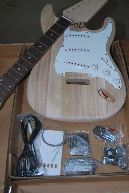 Build it yourself strat electric guitar kit parts hand carved ebay diy new 2018 professional model strat 6 string electric guitar do it yourself solutioingenieria Gallery