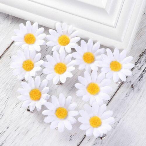 20pcs Cute Daisy Hair Clips Sunflower Fresh Hair Barrettes Hair Pins for Girl