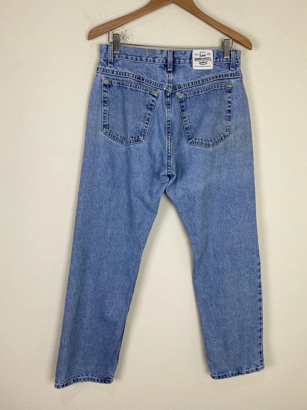 VTG 90s Y2K LEE Dungarees Denim Jeans 31x30 ACTUA… - image 1