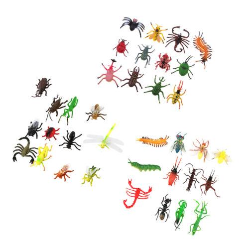 Lotto 36pcs plastica insetto modello figura bambini giocattoli bug mantide
