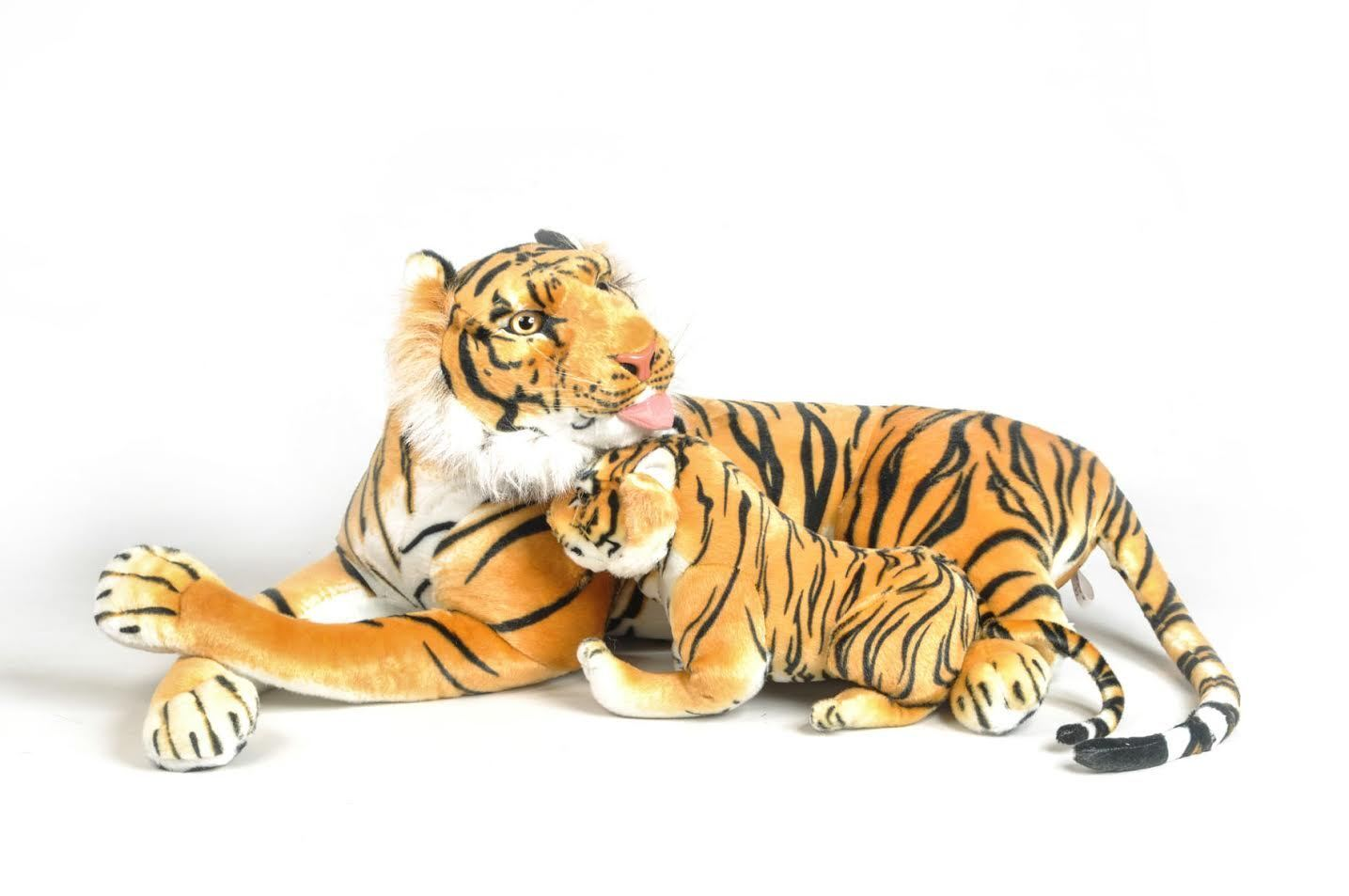 Grand Tiger plush 135 cm and sound baby quality Very soft and Realistic