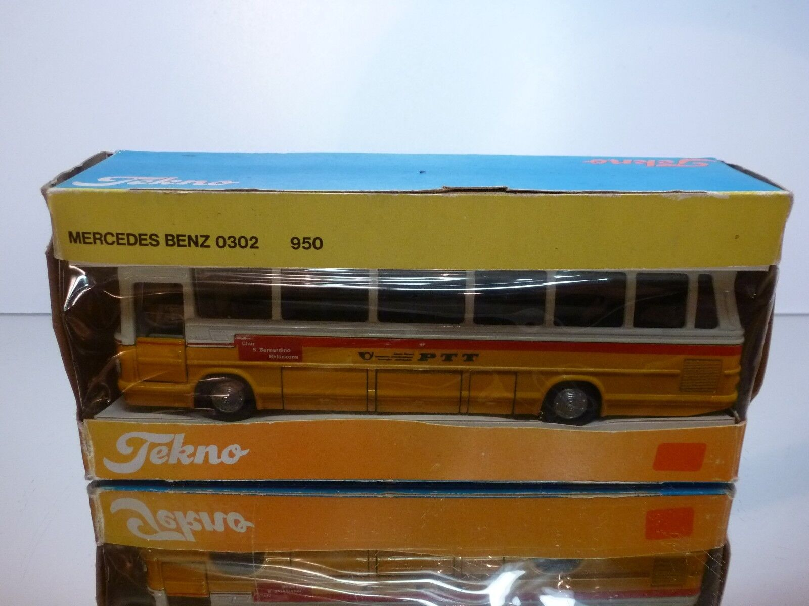 TEKNO HOLLAND 950 MERCEDES O302 SWISS PTT  - jaune 1 50 - VERY GOOD IN BOX  10 jours de retour