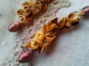 Exquisite-Antique-Millinery-Swag-Velvet-Doll-2-pc-Rare-Victorian-Fragments-Rare
