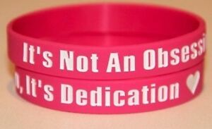 ONE DIRECTION 1D 'Obsession, dedication' pink wristband bracelet *SAME DAY POST