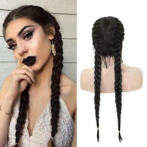 Synthetic-Braids-Lace-Front-Wig-With-Hair-Long-Black-Brown-Double-Braided-Wigs