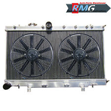 2Row Aluminum Radiator For 2002-2007 Subaru Impreza WRX STI 03 2004 05 2006 Fans