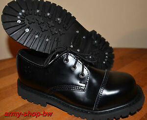 3 loch ranger schuhe mit stahlkappe boots rangers gr 38 39 40 41 42 43 44 45 46 ebay. Black Bedroom Furniture Sets. Home Design Ideas