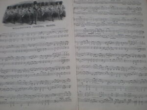 Old-Music-Sheet-Duke-of-Wellington-Funeral-March-Sir-Henry-Bishop-1852