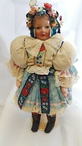 Composition-Cloth-Hungary-Doll-Circa-1940-039-s-17-034-Tall