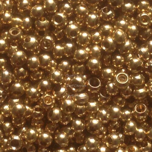 120 x 3.0mm gold brass beads.