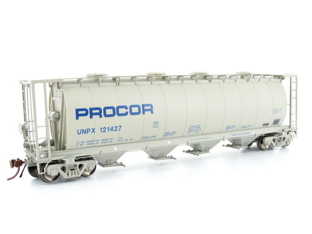 Rapido 127011-2 vagones 3800 cu ft Hopper nº 121427 Procor Spur h0