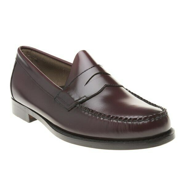New Mens Bass rot Maroon Logan Leather schuhe Loafers And Slip Ons On