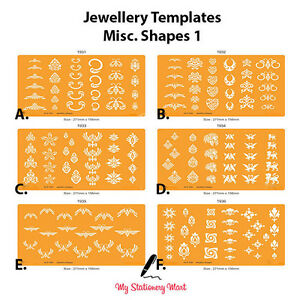 jewellery design drawing drafting template stencil gemstone stone