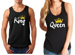 83922536b818c3 Tank Top King   Queen  2 Couple Shirts SET Matching T-Shirts ...
