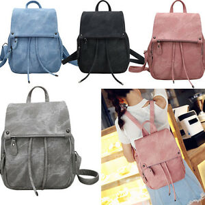 Image Is Loading Stylish Agers S Double Shoulder Bags Womens Backpack