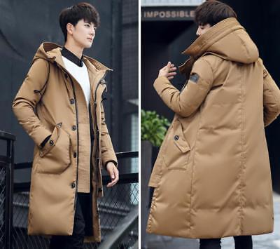 Women Girls Long Down Parka Coat Hood Slim Padded Youth Jacket Puffer Fit Sbox14
