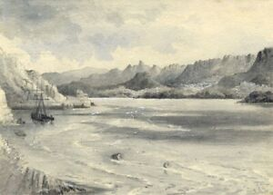 Ellis-River-Mawddach-Estuary-Barmouth-Wales-1877-watercolour-painting