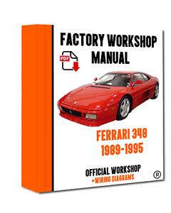 Phenomenal Official Workshop Manual Service Repair Ferrari 348 1989 1995 Ebay Wiring Database Wedabyuccorg