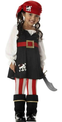 Child Girls Pirate Paradise Treasure Island Caribbean Fantasy Dress Up Costume