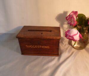 19th-Century-Antique-Oak-Box-Money-Box-Suggestion-Box-Great-History-amp-Character
