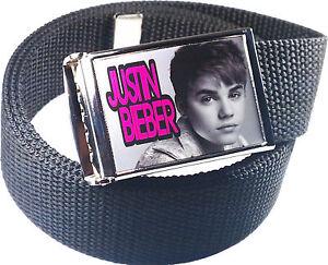 Justin-Bieber-Belt-Buckle-Bottle-Opener-Adjustable-Web-Belt