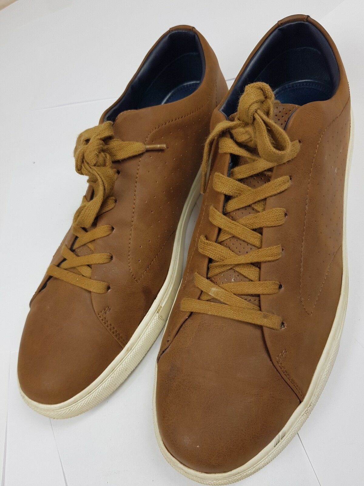 JONES Bootmakers Tan Brown Lace Up Casual Leather shoes   Pre-worn