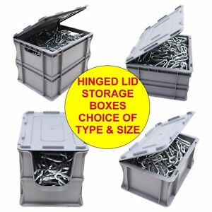 NEW-Heavy-Duty-Industrial-Type-Plastic-Euro-Storage-Box-Boxes-With-Hinged-Lid