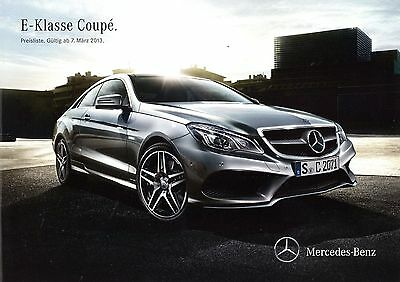 Mercedes E Klasse Coupé Preisliste 7.3.13 2013 Preise Price List E500 E400 E350 Die Nieren NäHren Und Rheuma Lindern