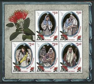 New-Zealand-NZ-2018-MNH-Christmas-Nativity-5v-M-S-Angels-Flowers-Stamps