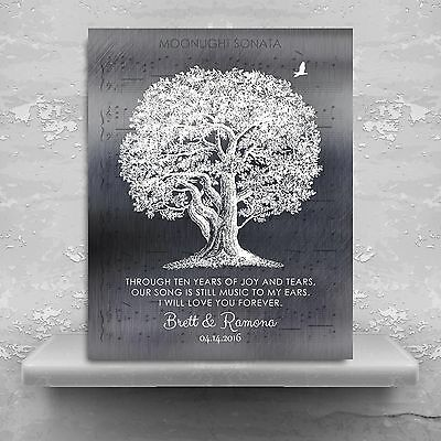 Personalized Square  10th Anniversary Our Family Tree Poem For Wed... CWA-1211