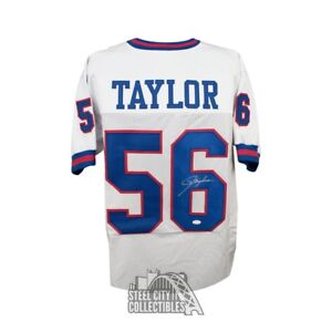 2016c6b665a Image is loading Lawrence-Taylor-Autographed-New-York-Giants-Custom-White-