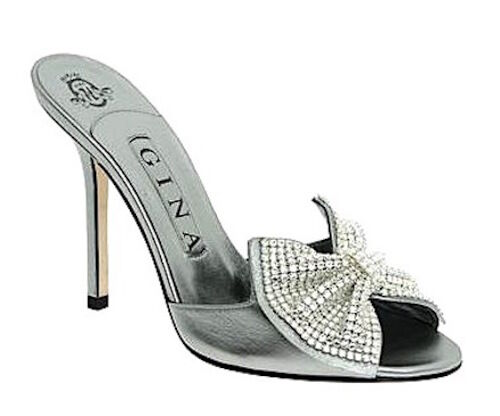 Gina Silver Stiletto Size UK 4