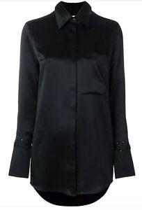 shirt zijden Bnwt maat zwart Victoria 8 Beckham q7wPfgEt