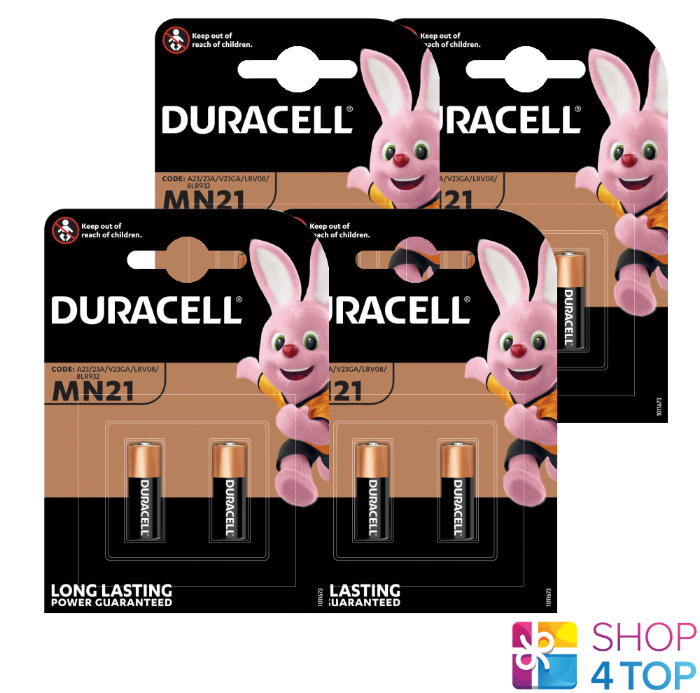 8 Duracell Alkaline MN21 Batteries 12V A23 23GA E23A GP