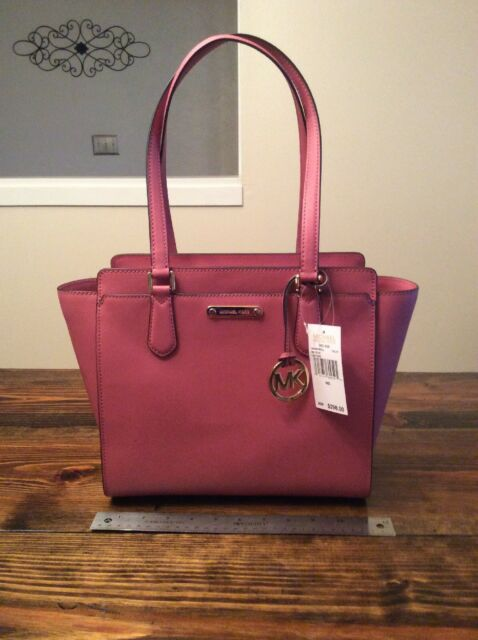 54b6d789405d66 Michael Kors Deedee Medium Tote Tulip Pink Leather for sale online ...