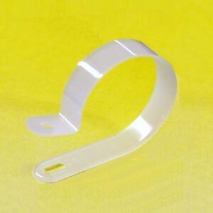 Plastico-Blanco-Nailon-P-Clips-Para-Soporte-Alambres-Cables-gama-de-tamanos