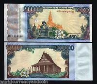 LAOS LAO 100000 100,000 2010 KIP COMMEMORATIVE 450th Anny WORLD CURRENCY MONEY