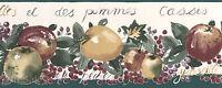 French Vintage Fruit Kitchen Antique Elegant Script Berries Wall Paper Border