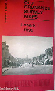 OLD-ORDNANCE-SURVEY-DETAILED-MAPS-LANARK-SCOTLAND-1896-Godfrey-Edition-New