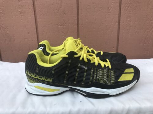 Babolat Men's US 9 Tennis Shoes JET All Court Black Yellow Racquet Racket A1