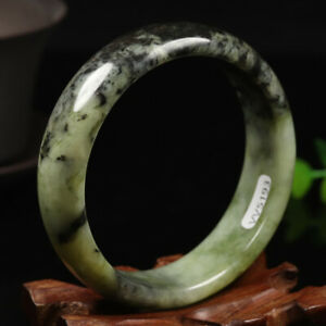60mm 100/% Chinese Grade A Natural Jadeite Jade Bracelet Bangle