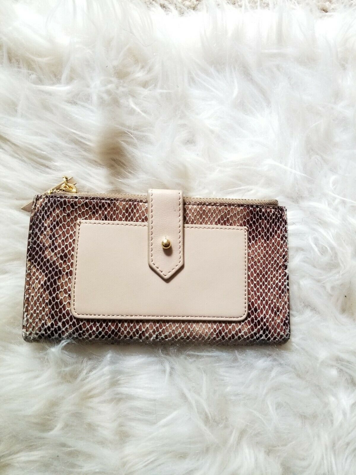 Margot Tan Leather And Snake Wallet