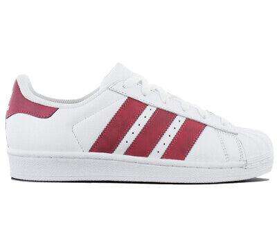 2 SALE CQ2690 Weiß Rot Schuhe Damen Superstar Originals